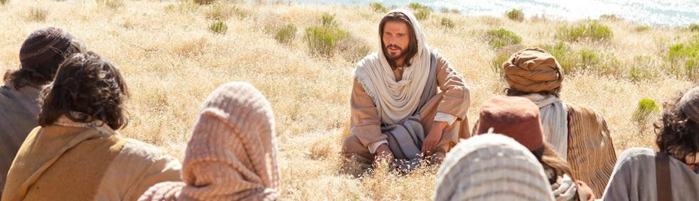 Jesus teaching his disciples.